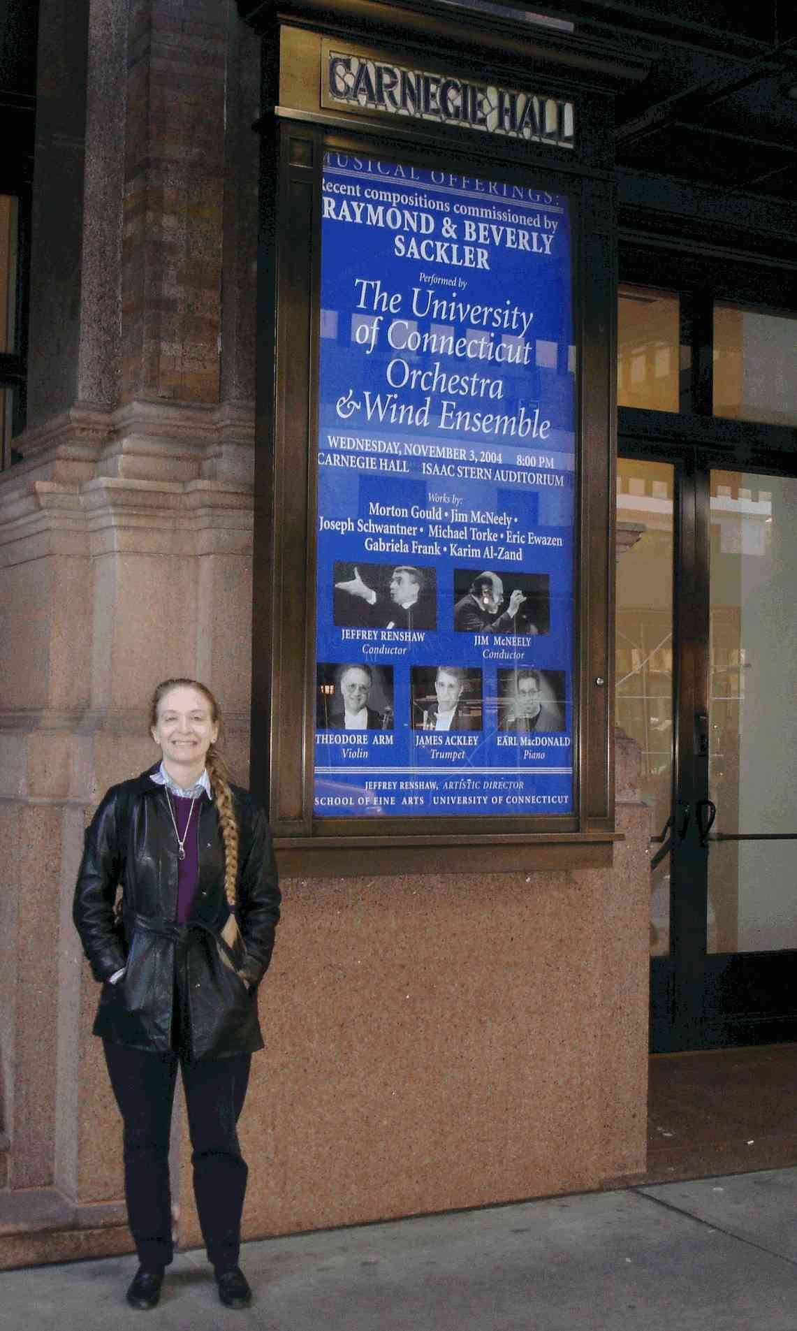 Barbara Hopkins at UConn's Carnegie Hall concert